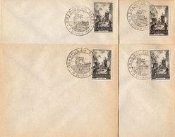 4 Enveloppes ORADOUR SUR GLANE 4F+2F - Gebraucht