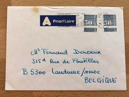 Lettre Avec 2 Timbres En Rouleaux Nyon Vers Landenne (Belgique) 1994 TB Présence Flamme - Franqueo