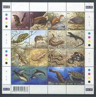 264 - MALTE 2004 - Yvert 1293/308 En Feuille - Tortue Serpent Lezard Herisson Dauphin - Neuf ** (MNH) Sans Charniere - Malta