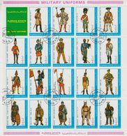 Ajman 1972 Military Uniforms 19v In Sheetlet Used (cto) (F8330) - Ajman