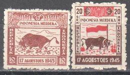 Indonesia - 1945 - Bull - Briefmarken