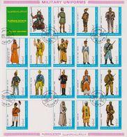 Ajman 1972 Military Uniforms 18v In Sheetlet Used (cto) (F8331) - Ajman