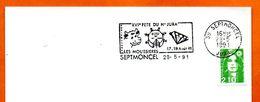 39 SEPTMONCEL   XVI° FETE DU HAUT JURA   1991 Lettre Entière N° FG 607 - Postmark Collection (Covers)