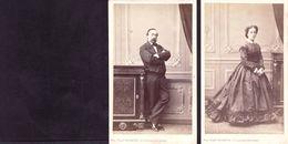 2 CDV MULNIER  PARIS  : 2 Portraits Homme Et Femme ( Couple  ) à Identifier Vintage Albumen Circa 1860 - Anciennes (Av. 1900)