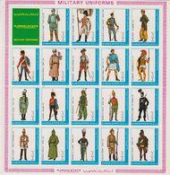 Ajman 1972 Military Uniforms 19v In Sheetlet ** Mnh (F8332) - Ajman