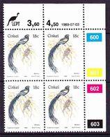 Ciskei - 1981 (1989) - 1st Definitive Birds - Additional Value Control Block - Ciskei
