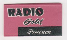 RADIO GOLD  RAZOR  BLADE - Hojas De Afeitar