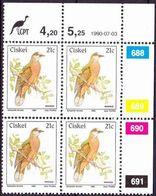 Ciskei - 1981 (1990) - 1st Definitive Birds - Additional Value Control Block - Ciskei