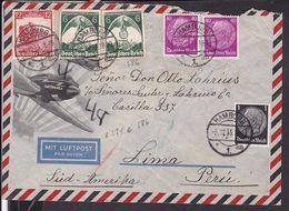 Luftpost Brief   Deutsches Reich Stempel Hamburg 1935 Nach Peru   (gi64) - Lettres & Documents