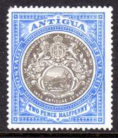 ANTIGUA - 1903 DEFINITIVE 2½d STAMP WMK CROWN CC MOUNTED MINT MM * SG 34 (2 SCANS) - 1858-1960 Colonie Britannique