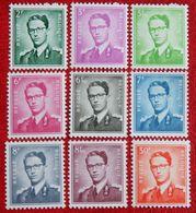 Koning Boudewijn Normal Paper NOT COMPLETE OBC 1066-1074 (Mi 1126-1129+1131-1132 1134 1196/97 X) 1958 POSTFRIS MNH ** - Unused Stamps