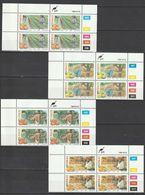 Ciskei - 1988 - Citrus Farming Fruit Oranges Lemons Tangerines - Complete Set Control Blocks - Ciskei
