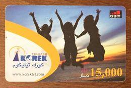IRAQ KURDISTAN KOREC TELECOM RECHARGE GSM PRÉPAYÉE PREPAID CARTE À CODE PHONECARD CARD - Irak