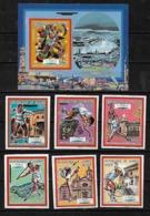 &BAR-16& REP. GUINEE MICHEL 1187/1192B+ BL 288B MNH** TENNIS, BARCELONA 92. OLYMPIC GAMES. - Guinea (1958-...)