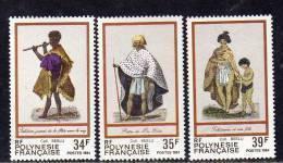 Polynésie N° 216 / 18 XX  Folklore Polynésien, Les 3 Valeurs Sans Charnière, TB - Polynésie Française