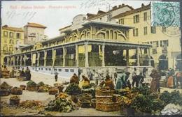 ITALY ITALIA Cartolina 1909 ASTI Piazza Statuto - Marcato Coperto - Piemonte - Asti