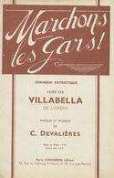 PARTITION PATRIOTIQUE MARCHONS LES GARS DE VILLABELLA - Musique & Instruments