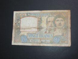20 Vingt Francs - Science Et Travail - 11=6=1941  **** EN ACHAT IMMEDIAT **** - 1871-1952 Circulated During XXth