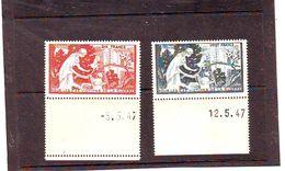 ERINNOPHILIE . POUR Les VICTIMES DE LA GUERRE . PTT . 10 Et 20 Francs . MNH ** Bords De FeuIlle - Commemorative Labels