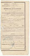Lozère/Aveyron/Mende/Campagnac  : Récépissé De Livret Militaire 1888 - Documenti Storici