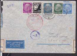 Zeppelin Brief   Deutsches Reich Stempel Krefeld   1939 Nach Peru , Devisenkontrolle   (gi64) - Deutschland