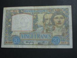 20 Vingt Francs - Science Et Travail - 18=9=1941  **** EN ACHAT IMMEDIAT **** - 1871-1952 Circulated During XXth