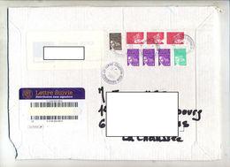 Devant De Lettre Suivie Cachet Strasbourg Courrier Sur Luquet Dont Roulette - Marcophilie (Lettres)