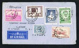 1951 Par Avion De Averbode Vers S.AUBERT P.Q. Canada Avec N° 842/4 (Unesco), 770, PA9 - Airmail