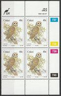 Ciskei - 1991 - Owls Birds - Control Block - Ciskei