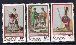 Polynésie N° 238 / 40  XX  Folklore Polynésien, Les 3 Valeurs Sans Charnière, TB - Polynésie Française