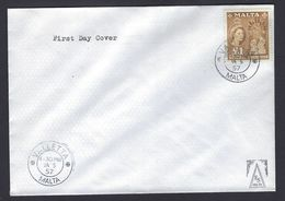 Rare Malta First Day Covers Complete 5 January 1957 Queen Elizabeth II £1 Definitive Issue - Malta