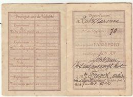 Lot Et Garonne : Passeport à L'Etranger 16 Pages 1928 (2 Scans) - Documenti Storici
