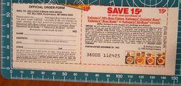 Cereali KELLOGG'S Coupon Buono Sconto 15 C USA Pubblicità - 1983 - Publicidad