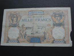 1000 Mille Francs - Cérès Et Mercure - 3 Novembre 1938  **** EN ACHAT IMMEDIAT **** - 1871-1952 Antichi Franchi Circolanti Nel XX Secolo