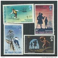 Iles Vierges N° 196 / 99 XX 75ème Anniversaire De La Mort De Stevenson  , Les 4 Valeurs  Sans Charnière, TB - British Virgin Islands