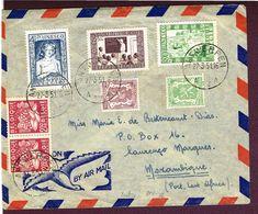 27/3/1951 Par Avion  De Anvers Vers Mozambique Avec N° 842/4 (Unesco) Premier Jour De L'émission - Airmail
