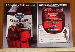 Drink Cran Grape Coupon Buono Sconto 15 C USA Pubblicità - 1983 - Publicidad