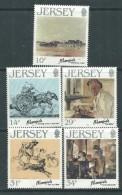 Jersey  N° 382 / 86  XX Artistes De Jersey ( VII ), Les 5 Valeurs  Sans Charnière, TB - Jersey