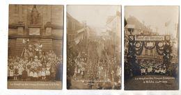 Bitche.Arrivée Des Troupes Francaises 1918. 6 Cartes Photo  Dont 3 écrites. - Bitche