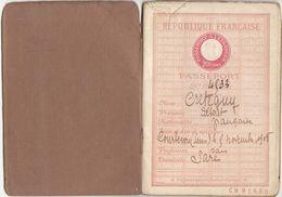 Seine, Courbevoie  :Passeport  32 Pages 1908 (2 Scans) - Historische Documenten