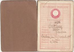 Seine, Courbevoie  :Passeport  32 Pages 1908 (2 Scans) - Documenti Storici