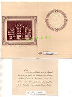 MENU ET INVITATION - BANQUET DES MEILLEURS OUVRIERS DE FRANCE PROMOTION 1952 - PALAIS DE LA MUTUALITE PARIS - Menú