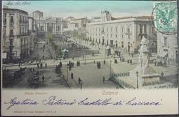 ITALY ITALIA Cartolina 1906 CATANIA Piazza Stesicoro - Sicilia - Catania