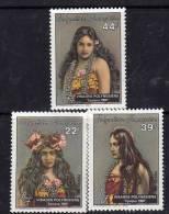 Polynésie N° 230 / 32 XX Visages Polynésiens I, Les 3 Valeurs Sans Charnière, TB - Non Classés