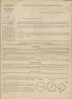 FORMULAIRE REDEVANCES TELEPHONIQUES 1940 AVEC CACHET ROUGE LE HAVRE TELEPHONE ET RECU AVEC TIMBRE FISCAL - Marcophilie (Lettres)