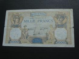 1000 Mille Francs - Cérès Et Mercure - 7 Décembre 1939  **** EN ACHAT IMMEDIAT **** - 1871-1952 Antichi Franchi Circolanti Nel XX Secolo
