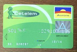 CETELEM CARTE SUPPORT PLASTIC RIGIDE NO PHONECARD CARD PAS TÉLÉCARTE - Cartes De Crédit (expiration Min. 10 Ans)