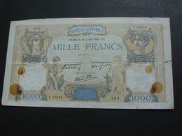 1000 Mille Francs - Cérès Et Mercure - 18 Décembre 1940  **** EN ACHAT IMMEDIAT **** - 1871-1952 Antichi Franchi Circolanti Nel XX Secolo