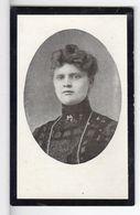 Doodsprentje VROUW FEMME Marie VANDERHAGEN  °1881 BECQUEVOORT BEKKEVOORT +1908 TIENEN  // SCHEES - Andachtsbilder