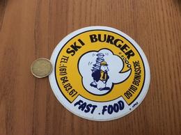 AUTOCOLLANT, Sticker «SKI BURGER - FAST FOOD - BONASCRE (09)» (restaurant) - Adesivi